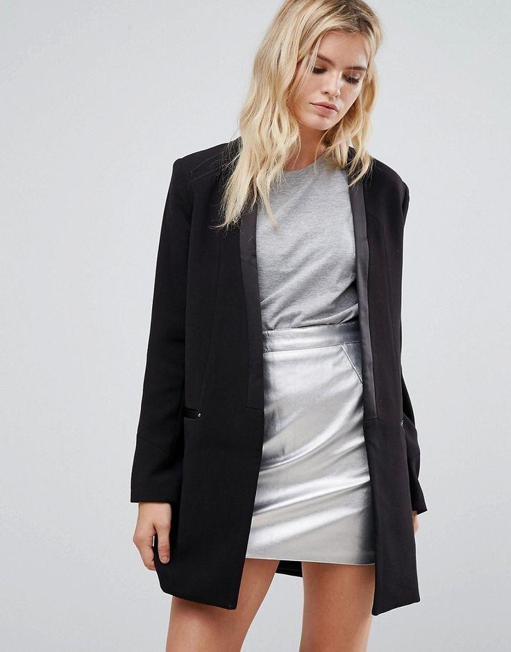 Pepe Jeans Dina Tux Tailored Coat - Black