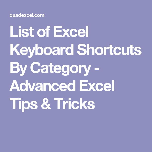 334 best Excel - Shortcuts - Tastenkombinationen images on Pinterest ...