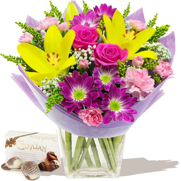 THANKS MUM BOUQUET and CHOCOLATES - Exclusive Bouquets and Flowering Plant Gifts for Mothers Day by Eden4flowers *** Want to know more, click on the image. (This is an affiliate link) #PlantsSeedsandBulbs