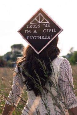 """Truss Me I'm a Civil Engineer"" Graduation Cap  #osuaxo #axo #cap #crafty #graduation #alwaysalphachi #engineer"