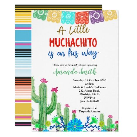 Colorful Fiesta Boy Baby Shower Invitation Zazzle Com In