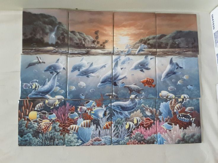 86 best dolphins mermaids images on pinterest dolphins for Dolphin tile mural