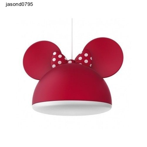 Childs Bedroom Light Minnie Mouse Girls Ceiling Lighting Lightshade Disney Bed