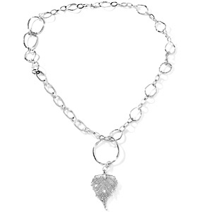 "Tori Spelling ""Organic"" Leaf-Design Pendant with 36"" Necklace at HSN.com."