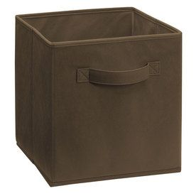 ClosetMaid 5786 Cubeicals Fabric Drawer Canteen/Brown Suggest use with Cubeicals Storage Organizers Available in a variety of colors Inside Dimensions 11 ...  sc 1 st  Pinterest & 85 best Storage - LOWES u0026 Home Depot Bins images on Pinterest | Bass ...