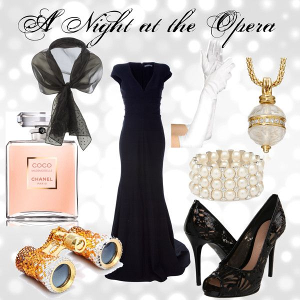 a night at the opera, created by miriam-galenas on Polyvore
