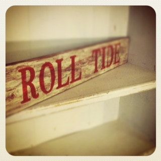 Alabama Wooden Sign. $28.00, via Etsy.