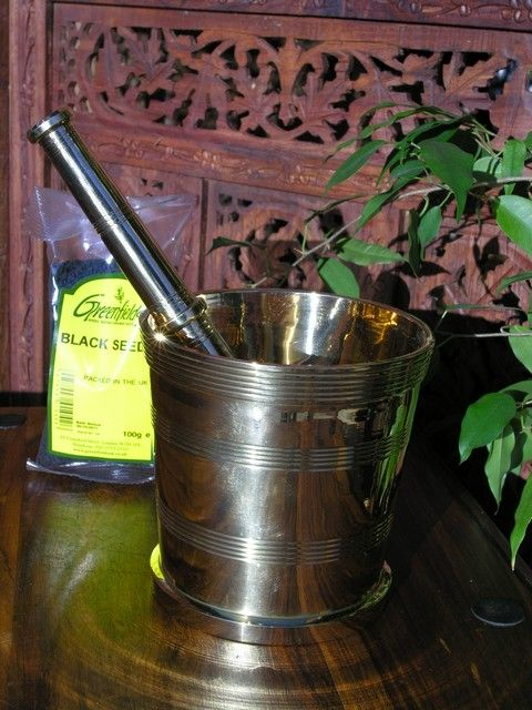 Large brass pestle and mortar. http://www.maroque.co.uk/showitem.aspx?id=ENT04537&p=01570&n=all