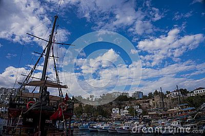 Antalya old town Marina in Turkey