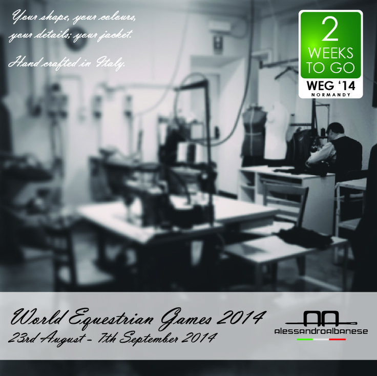 World Equestrian Games 2014 Alessandro Albanese made to measure jackets #theworkshop
