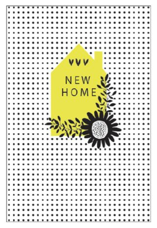 Graphic New Home Greeting Card - Printed in the UK