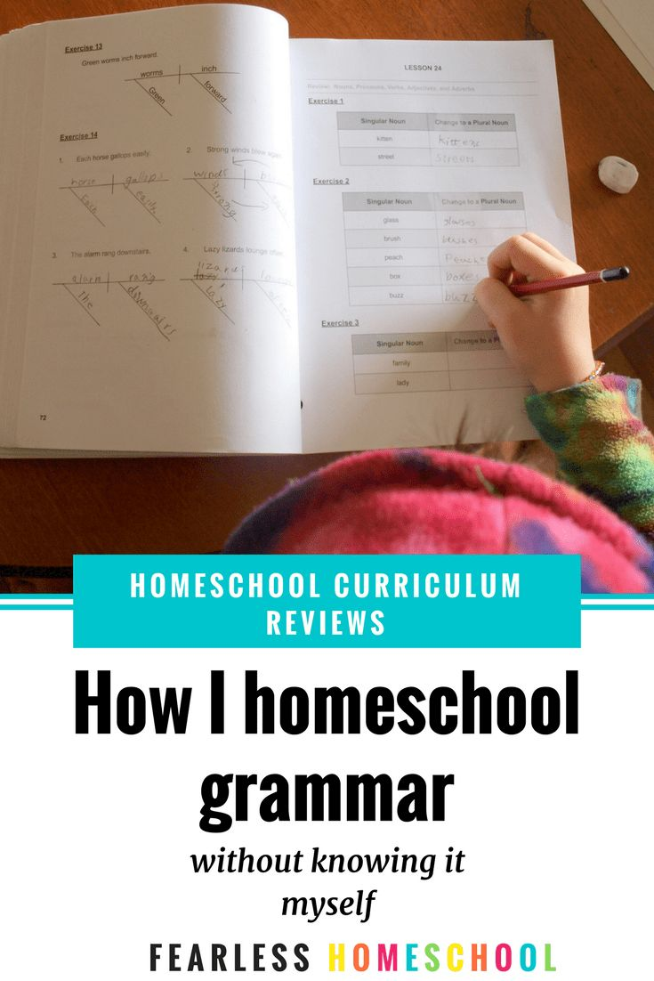 How I homeschool grammar (without knowing it myself) - Fearless Homeschool
