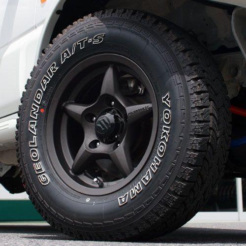 WILDBOAR X 15インチ ガンブラック YOKOHAMA GEOLANDAR A/T-S 215/75R15 ...