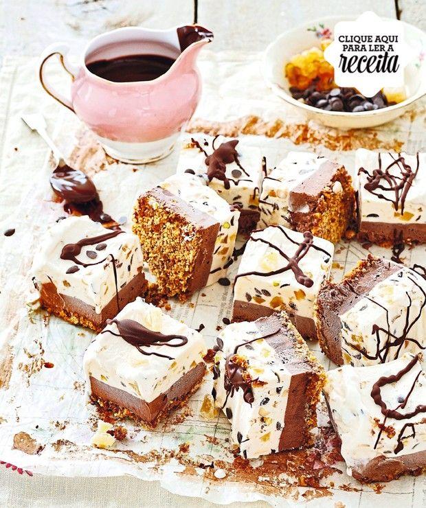 Inspirada na cassata italiana, essa torta gelada usa ingredientes prontos, como sorvete de baunilha, biscoitos e gengibre cristalizado. É só montar! (Foto: StockFood /Great Stock!)