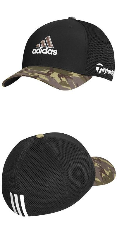 7446080e06e98 Golf Visors and Hats 158937  Taylormade Adidas Golf Tour Mesh Flexfit Black  Camo Camouflage Fitted