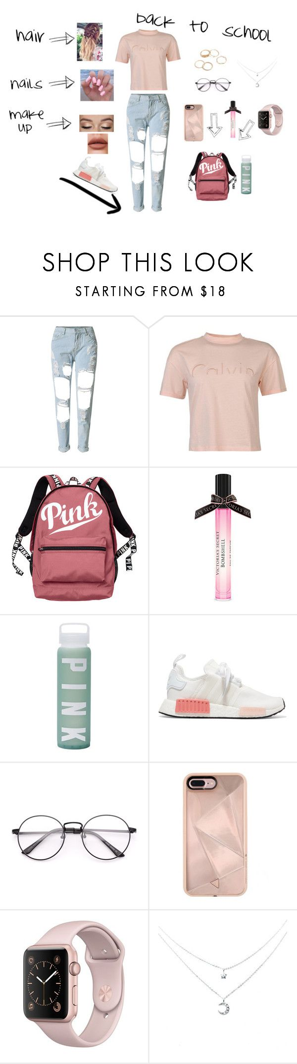 """back to school"" by natalyholly on Polyvore featuring WithChic, Calvin Klein, Victoria's Secret, adidas Originals and Rebecca Minkoff"