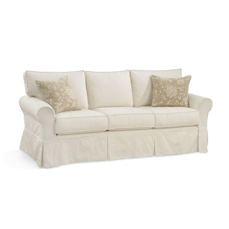 Delightful Alexandria Box Back 3 Seat Slipcovered Sofa @ Layla Grace Awesome Design