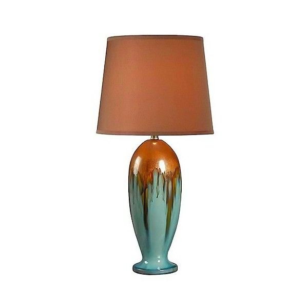Kenroy Home Table Lamp ($120) ❤ liked on Polyvore featuring home, lighting, table lamps, blue, ceramic table lamps, blue table lamp, southwestern table lamps, blue ceramic table lamp and kenroy home