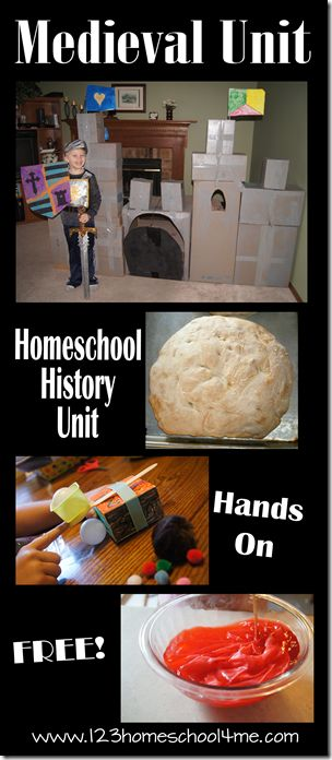 Homeschool History Medieval Unit - hands on activities, resources, and exploration of the Middle Ages for kids of all ages.