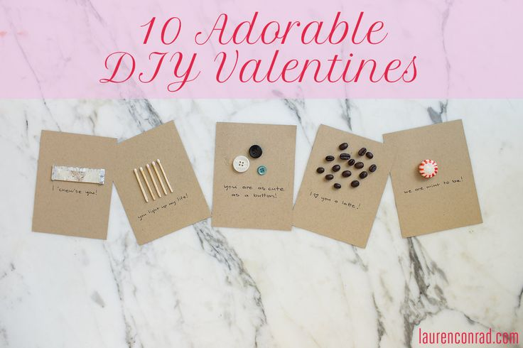 Craft your own sweet Valentine's Day cards this year!