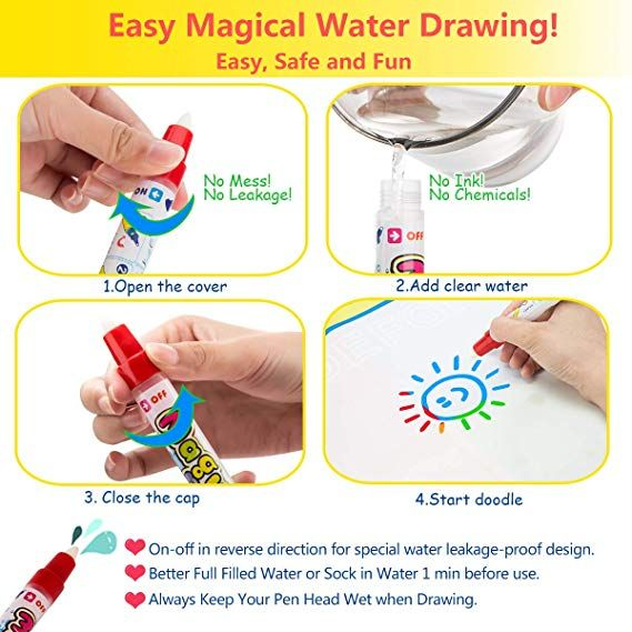 Amazon Com Magic Water Doodle Mats Drawing Mat Super Large 32x24in Water Painting Board Painting Pad Toddler Toys Toddler Gifts Girl Gifts Boy Gifts For Age 2