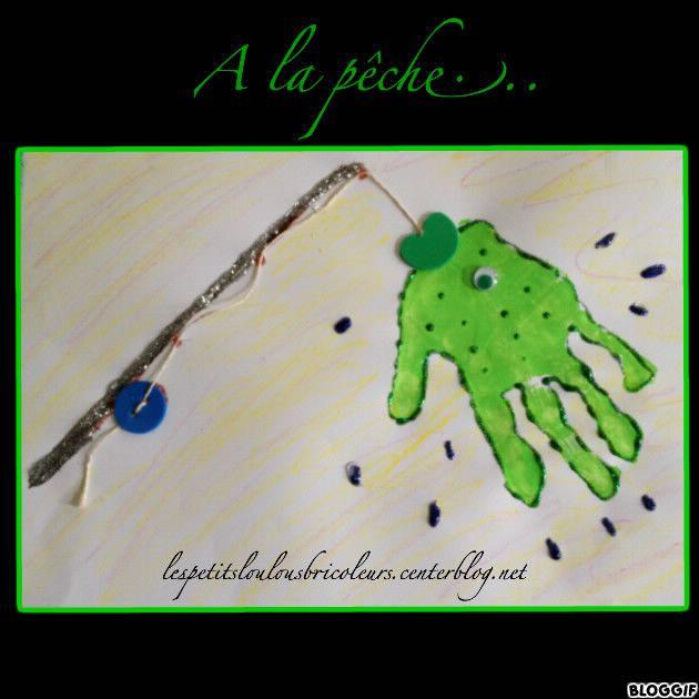 PECHE A LA LIGNE  bricolage enfant