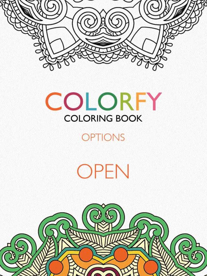 Colorfy Coloring Book For Adults Free Apps 148apps Coloring Books Colorfy Free Coloring