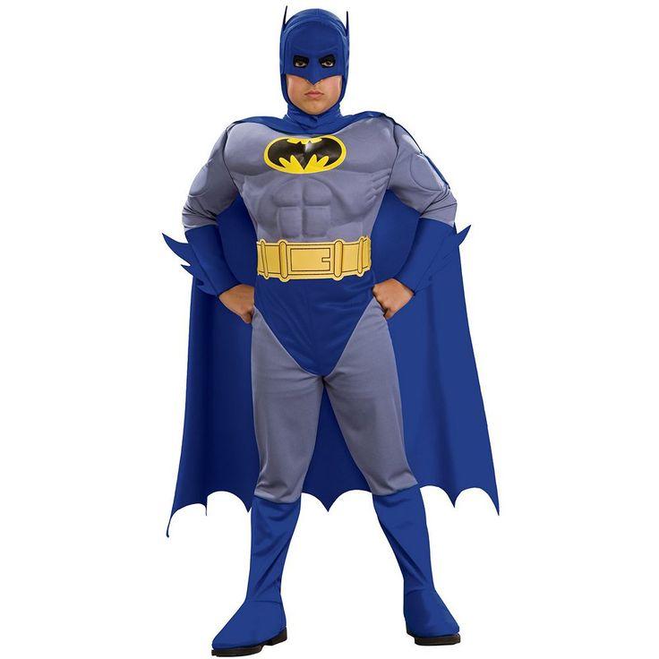 Batman Brave and Bold Muscle Costume - Kids, Boy's, Size: Medium, Multicolor