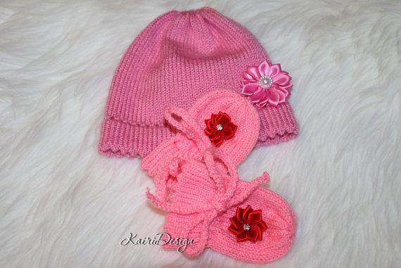 Machine knitting doll clothes doll mittens hat PDF pattern