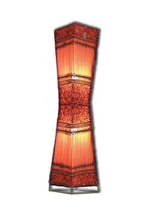 Lamp 'Sunrise'  150cm/ 5ft  Available in White, Red and Orange. Rattan and wicker with cotton lining. Steel frame.    30cm - $59.95  50cm - $79.95  120cm - $169.95  150cm - $199.95  $199.95