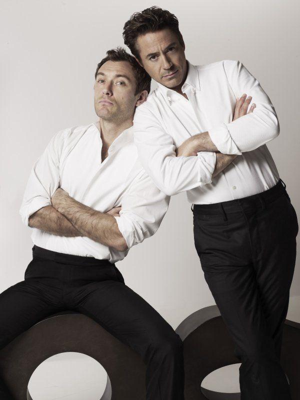 Jude Law & Robert Downey Jr. aka Watson & Sherlock.