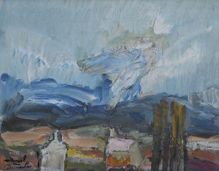 Marcel van Driessche (1925-2012) Titel: Landschap met huizen - Artiquair