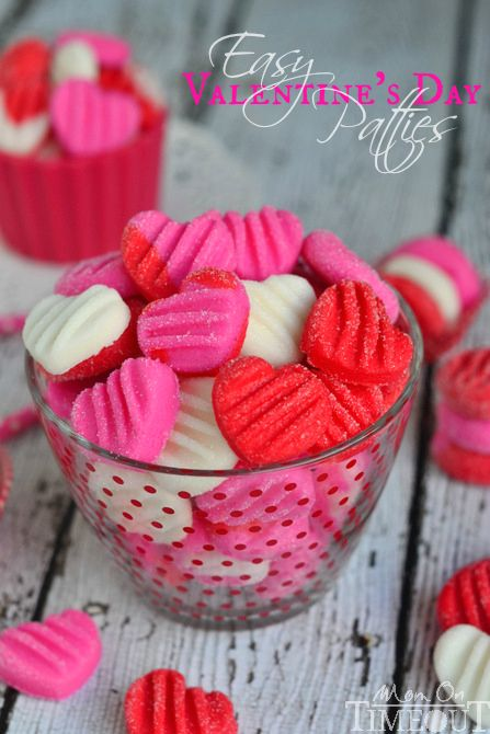 Celebrate the sweetness of Valentine's Day with these Easy Valentine's Day Patties - you choose the flavor! | MomOnTimeout.com | #recipe #candy #valentines #day