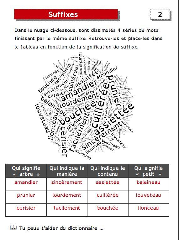 exercices sur les préfixes et les suffixes - De deux choses l'une... | Cm1 cm2, Familles de mots ...