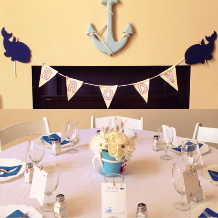 Nautical Baby Shower / Paper&Thyme | baby shower ideas ...