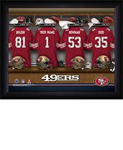 Personalized NFL 49ers Locker Room Print $34.98