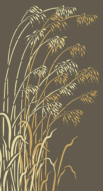 Wild Grass Stencils Oversize Wild Oats Stencil