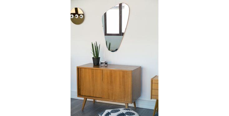 miroir asymétrique vintage, miroir asymétrique,  miroir vintage, miroir doré, miroir pas cher, mobilier vintage, room30