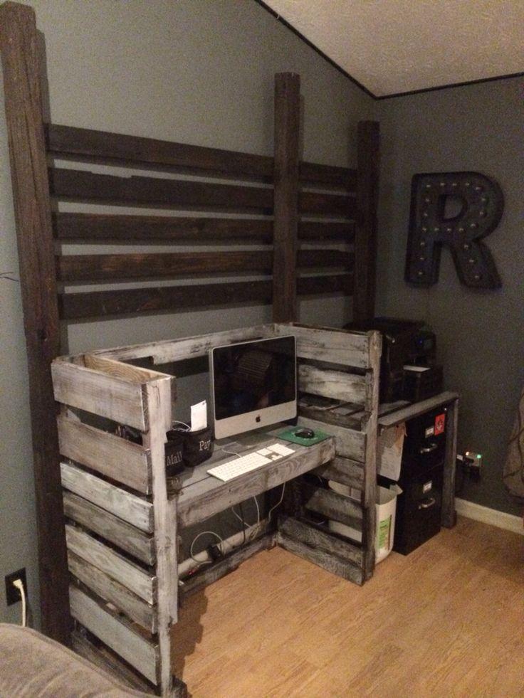 461 Best Pallet Desks Images On Pinterest   Wood Pallets, Pallet Desk And  Pallet Wood