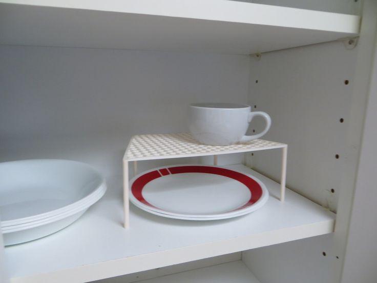 "Simple Shelf for medium sized Corelle Ware (8.5"" dia plates, bowls, etc) by pastudan."