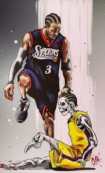 Iverson Vs lue | Dunk | Nba basketball, Sports basketball, Nba wallpapers
