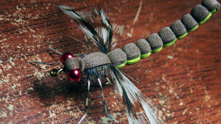 Adult drafonfly - realistic imitation fly tying instructions by Ruben Ma...
