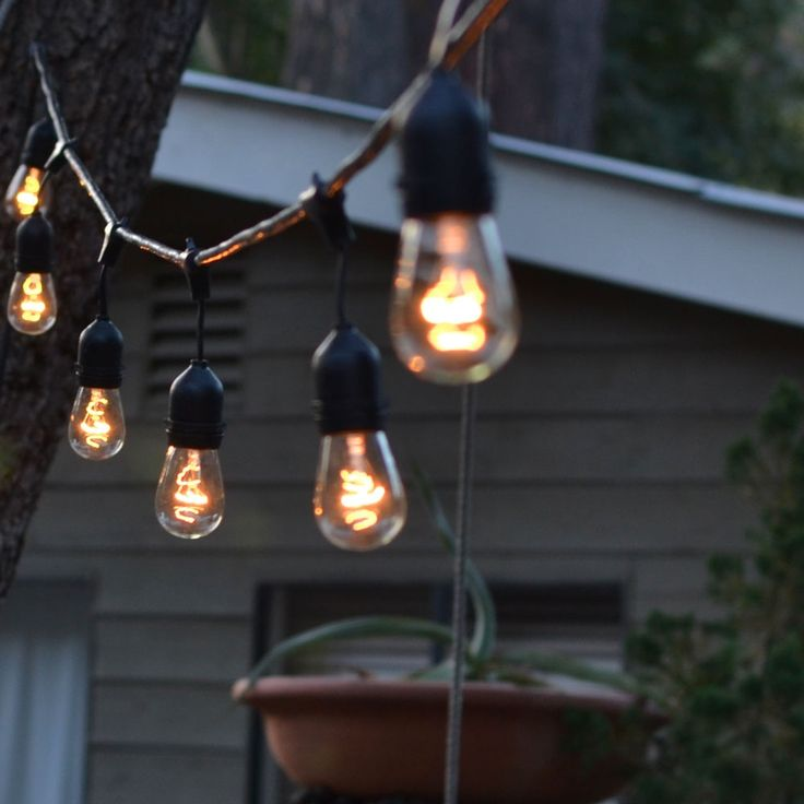 Outdoor lighting ideas 38 pinterest outdoor string lights weatherproof 48 ft w 15 bulbs mozeypictures Image collections