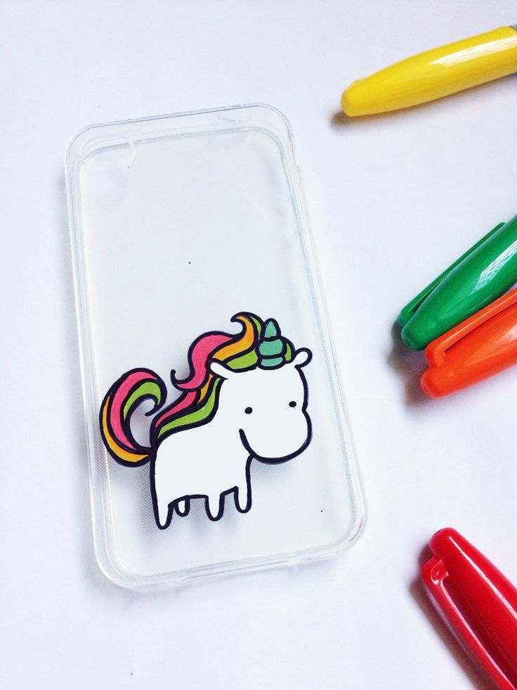 Hand painted unicorn phone case - iPhone 6 case clear- iPhone 6 case - iPhone 6s case - Phone case Galaxy S5 - Clear phone case - pinned by pin4etsy.com