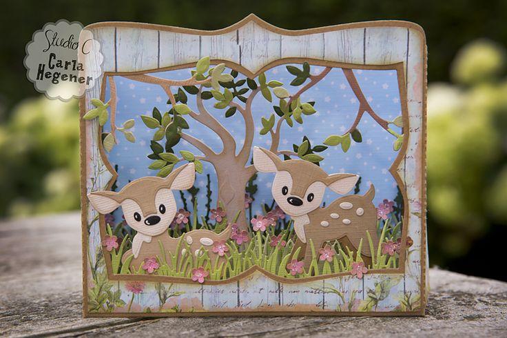 Shadow Box - Box Card. Marianne Design Eline's Deer: COL1401 Marianne Design Box…