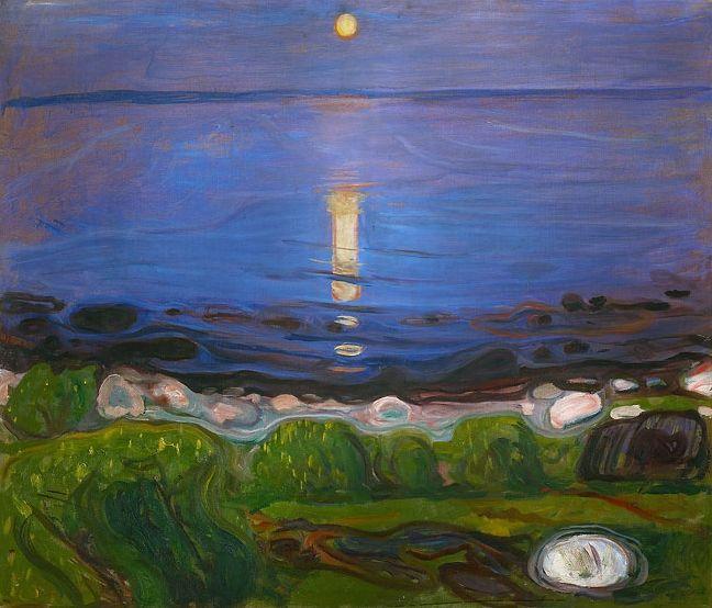 Edvard Munch: Summer Night. the Beach