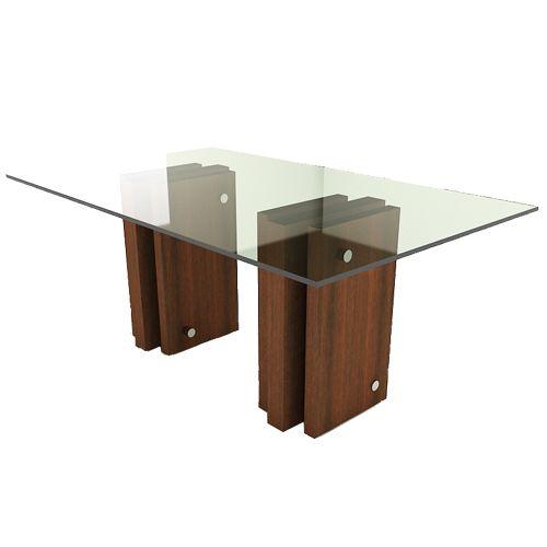 Mesa comedor madera vidrio buscar con google mesas de for Mesa comedor vidrio