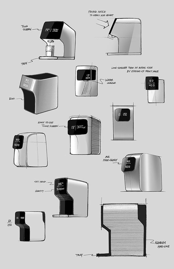 SMART by Kim Seungwoo ____________________________ Water purifier with quick, easy UI #productdesign #minimaldesign: