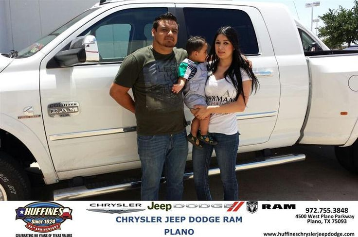 #HappyAnniversary to Bianca and Javier Alvarez on your 2014 #Ram #3500 from Ruben Perez at Huffines Chrysler Jeep Dodge RAM Plano!