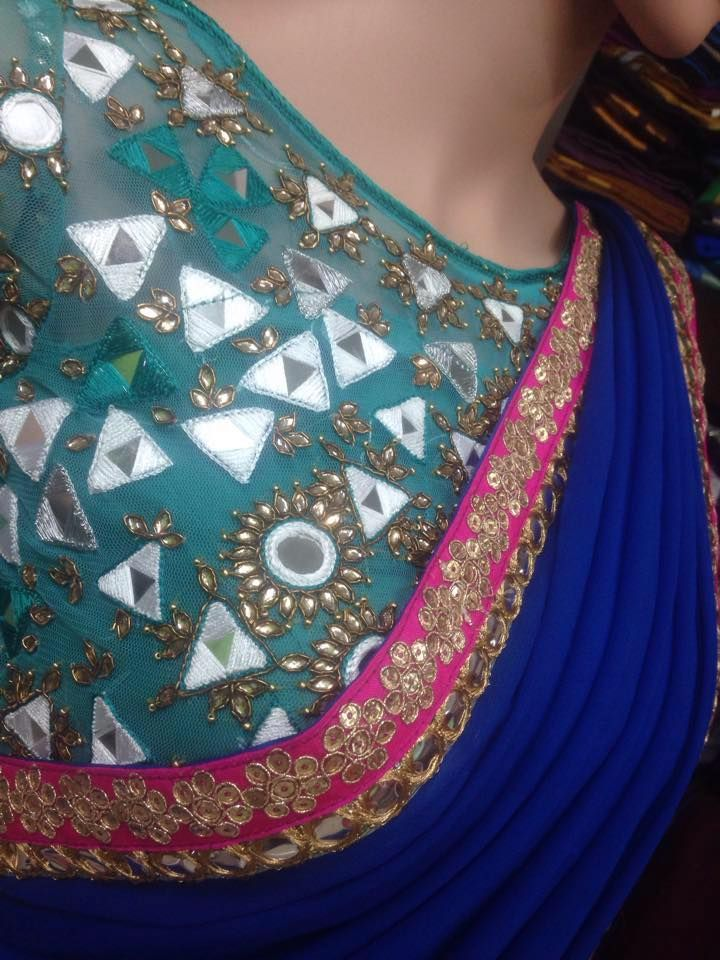 Check our website  http://kaushicollections.com/   Mirror work sarees, Mirror work blouses, Mirror work Lehanga, Mirror work suits, Mirror...